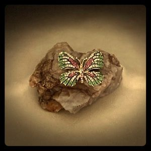 Decor Rock With Butterfly Jewel - Paperweight